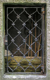 window barred metal