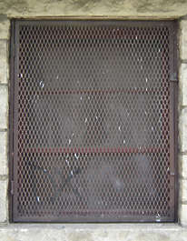 window barred grate blind