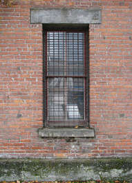 window industrial barred old