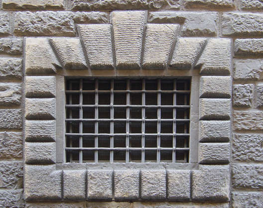 window small medieval barred