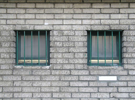 window windows small barred bars