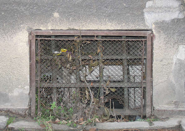 window windows small house old grate grating barred bars