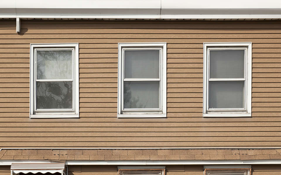 Grey Stained Shutters