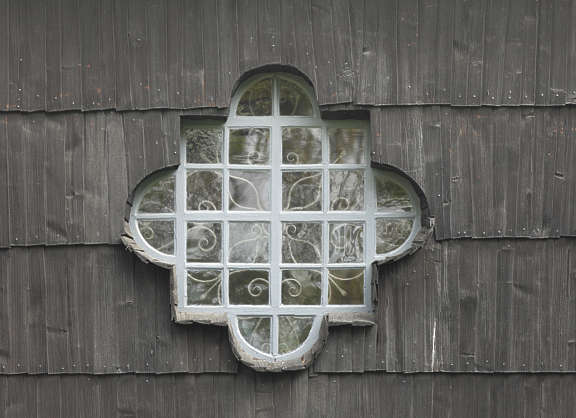 window wooden church