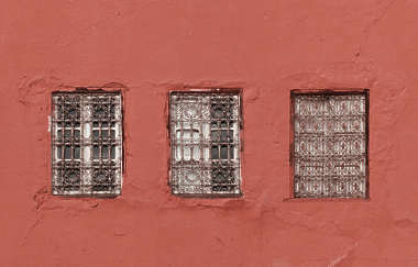 windows house old loam morocco