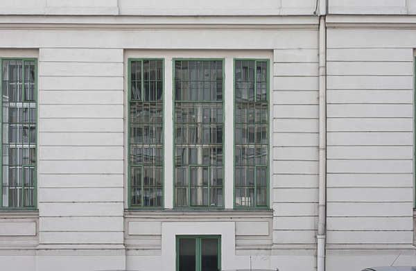 vienna austria window wooden barred up old