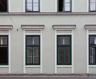 vienna austria window windows tenement wooden house old