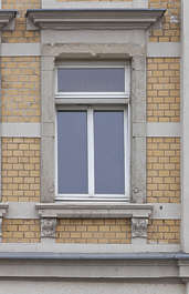facade building windows tenement residential neoclassical