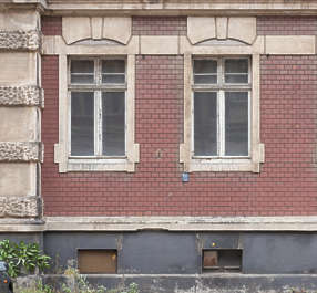 facade building windows tenement residential old