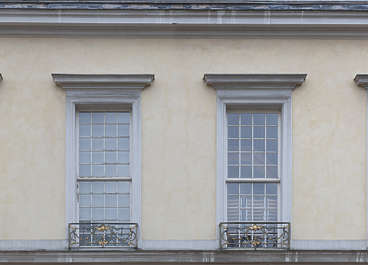 facade window windows ornate neoclassical residential