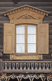 window wooden ornate hut house