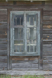 window house old wooden hut