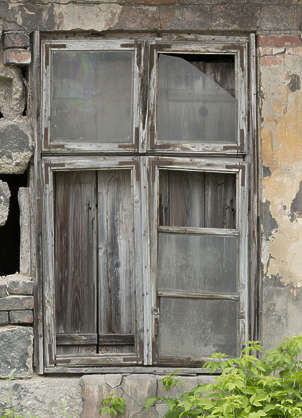 window wooden house old