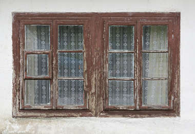 window wooden old house