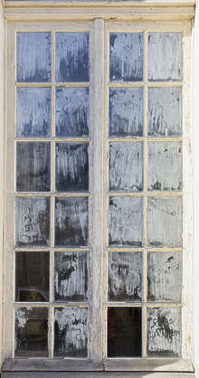 window old chalked chalk medieval