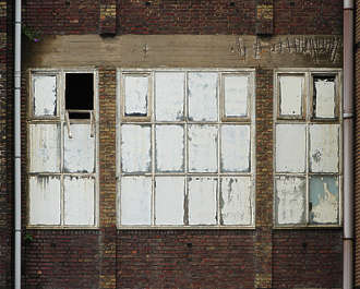 building industrial facade old window windows