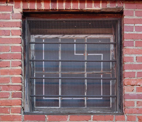 window industrial barred