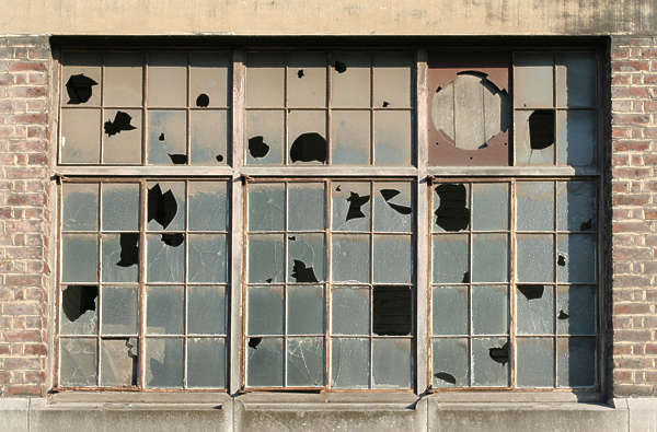 windows window industrial facade building broken