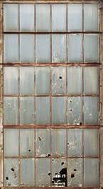 window industrial dirty broken derelict