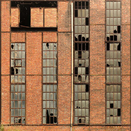 windows industrial window broken