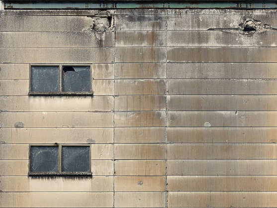 window windows industrial concrete plates building facade