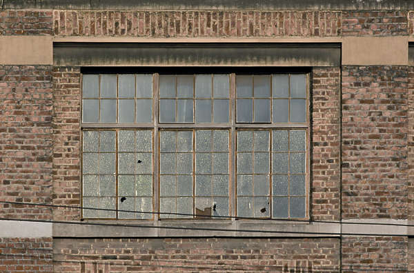 window factory industrial broken