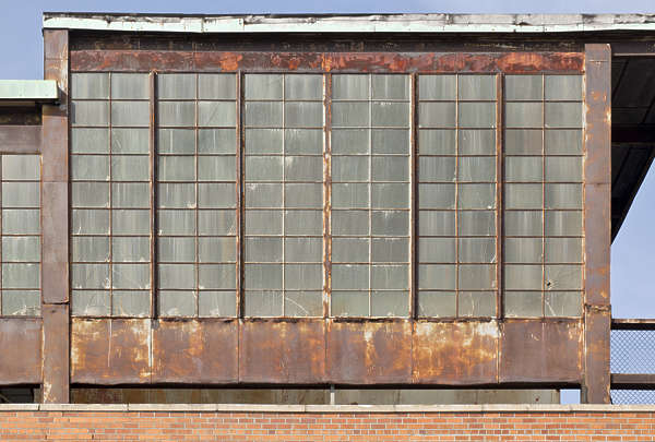 new york ny building facade window windows old industrial rusted rust