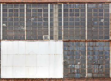 new york ny building facade window windows industrial rusted