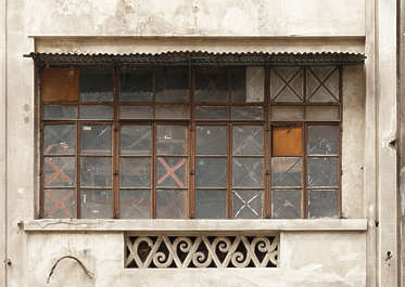 window windows hong kong building facade house old