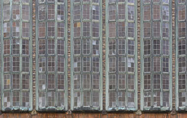 window windows glass leaded factory building facade industrial