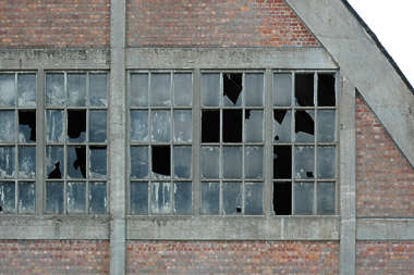 window industrial broken