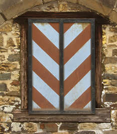 window shutters medieval stripes