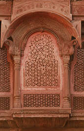 india window ornate arch