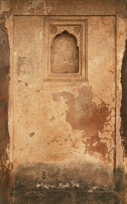 india plaster wall window