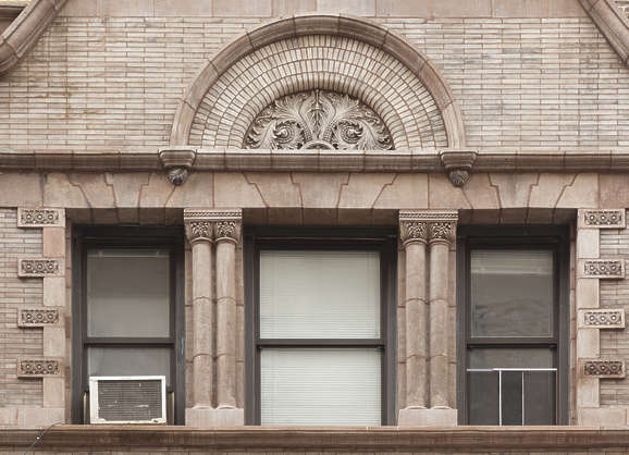 window ornate arch new york ny united states usa