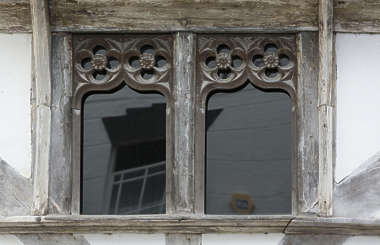 window old house wooden ornate UK