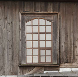 window wooden old church