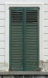 window closed shutter shutters house