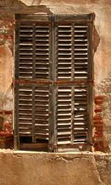 window windows shutter shutters closed