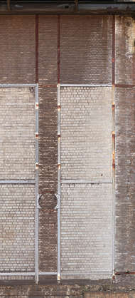 concrete window blind bricked closed dirty industrial facade
