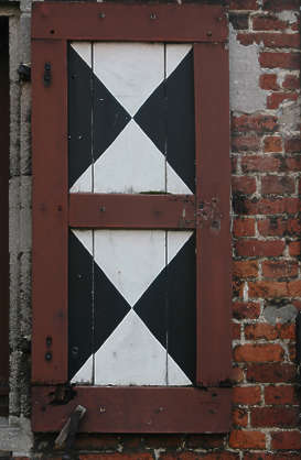 window shutters wood planks old medieval