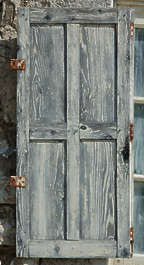 window shutter planks wood old painted