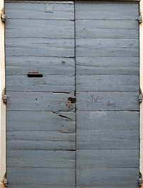 wood planks painted window shutters old