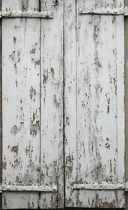 wood planks painted cracks crackles weathered window shutter