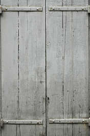wood planks painted windows shutters