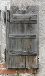 window wooden single old