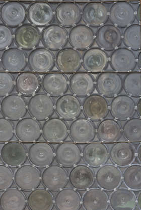 venice italy window glass medieval leaded old round