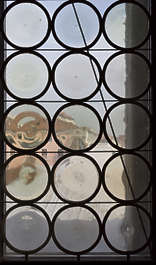 venice italy window glass old round medieval leaded