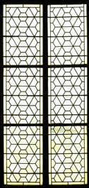 window stained glass church leaded