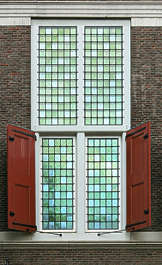 window shutters medieval stained glass